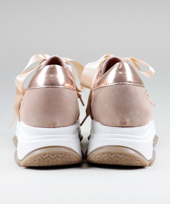 Sapatilhas Nude Sneakers Ginova Femininas
