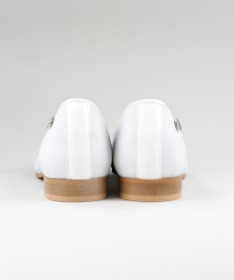 Sapatos Rasos Brancos Formais Ginova de Senhora