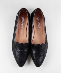Sapatos Rasos Pretos Formais Ginova de Senhora