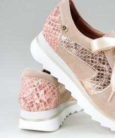 Sapatilhas Rosa Ginova com Detalhe Atrás