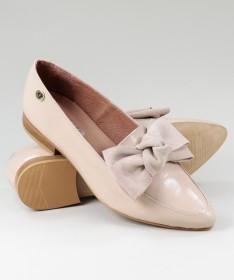 Sapatos Rasos Rosa Ginova Envernizados com Laço