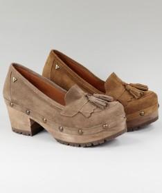 Sapatos de Senhora Ginova em Sola de Madeira