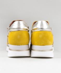 Sapatilhas Amarelas Ginova de Mulher com Fecho na Lateral