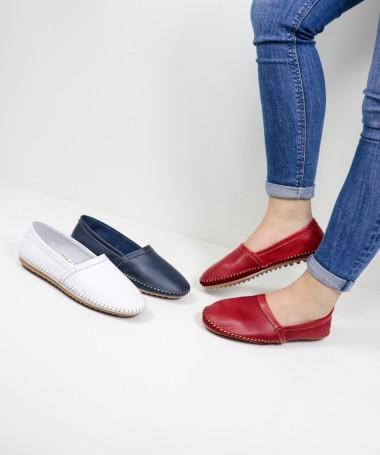 Sapatos Rasos Ginova com Costuras