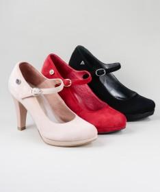 Sapatos de Senhora Ginova em Camurça