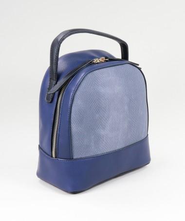 Mochila Azul de Senhora com Textura