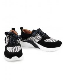 Sapatilhas de Mulher Ginova com Padrão Zebra